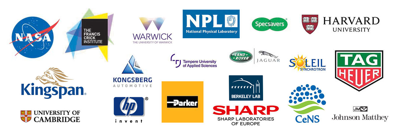 Henniker Plasma's About us page - Images of logos from our respected and trusted customer base