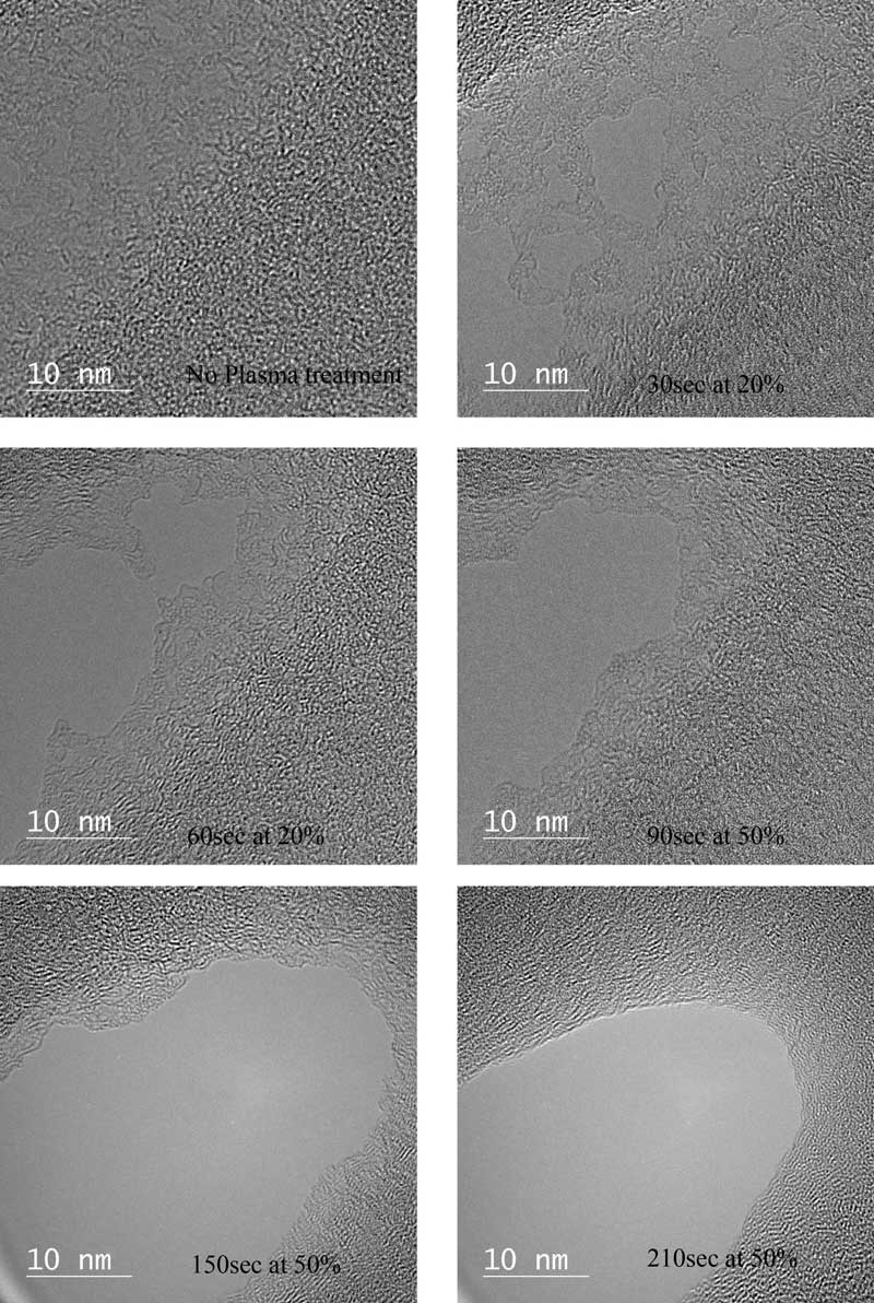 Examination of Effectiveness of Henniker Plasma Cleaner using a Holey Carbon Film by TEM - Image TEM 2 rgb