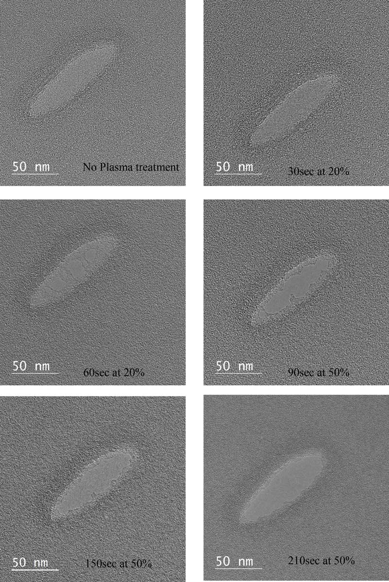 Examination of Effectiveness of Henniker Plasma Cleaner using a Holey Carbon Film by TEM - Image TEM 3 rgb