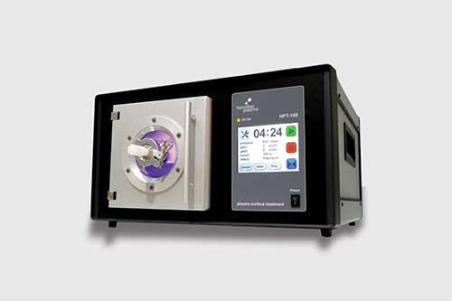 Controlled, accurate plasma cleaner for TEM sample preparation